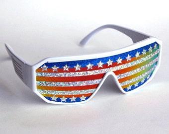 Rasslor American Flag Shield Sunglasses