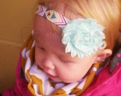 Poncho.Dean-  Aztec Headband YOU CHOOSE Color Combo- Baby Toddler Kid Adult Aztec
