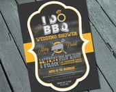 I DO BBQ Engagement Party Invitation: Digital printable file *printing available upon request*