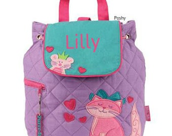Personalized Girls Diaper Bag or Backpack Stephen Joseph Cat