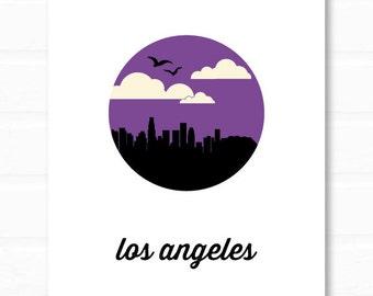 los angeles art // los angeles skyline // los angeles print // los angeles california // city of angels