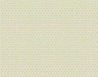 04360  - Riley Blake Snug as a Bug collection Cotton C3496  in green- 1 yard