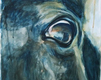 Horse Look 28 - Original Watercolor Painting