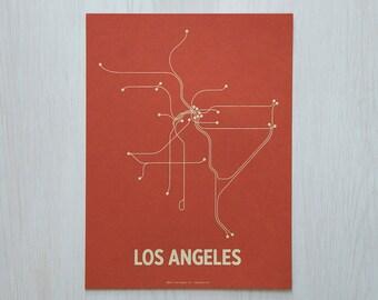 LA Sm Screen Print - Coral/Cement