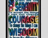 Rainbow Serenity Prayer greeting card