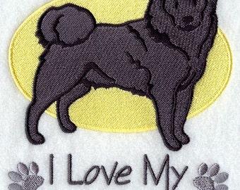 I Love My Schipperke Embroidered Flour Sack Hand/Dish Towel