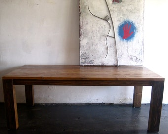 Beautiful Modern Reclaimed Wood Dining Table. Made in LA.