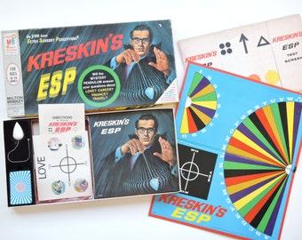 Vintage 1960's Kreskin's ESP - Extra Sensory Perception Test - Retro Board Game