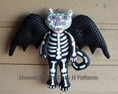 Day of the Dead Vampire Bat Halloween Art Doll Día de Muertos