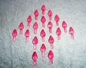 100 med  pink   Ceramic Christmas tree lights.