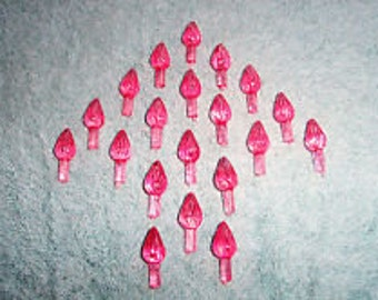 100 med  pink   Ceramic Christmas tree lights.