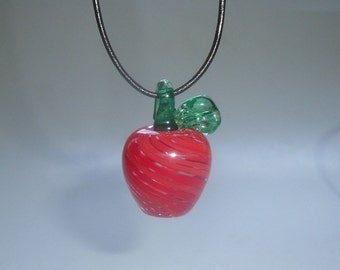 Red Apple Glass Pendant 2 : Disaster Relief