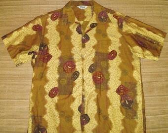 Men's Vintage 60s Tropicana Coin Hawaiian Aloha Surf Shirt - XL - The Hana Shirt Co