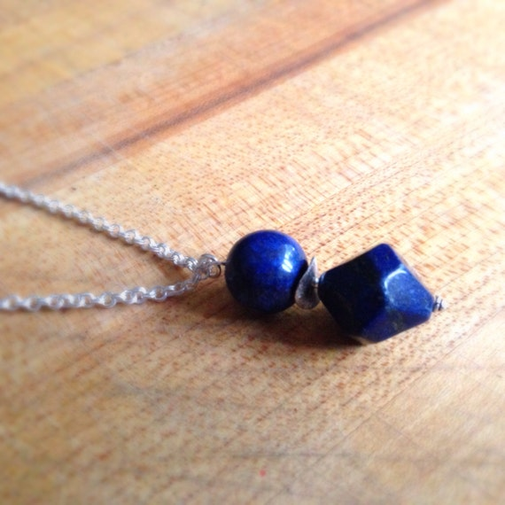 Lapis Necklace - Navy Blue Necklace - Sterling Silver Jewellery - Lapis Lazuli - Gemstone Jewelry