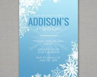 Frozen Inspired Birthday Invitation