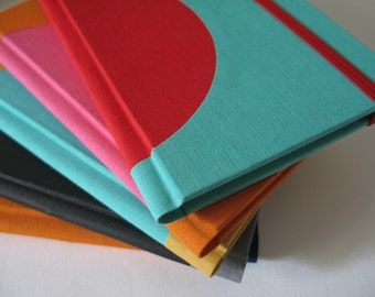 Custom Color Small Plain Notebook -  Inner Circle - A6 / small size