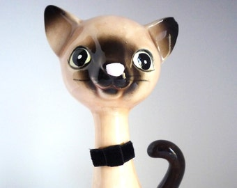 Vintage Norcrest Siamese Cat Figurine