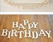 Happy Birthday DIY Wooden Banner