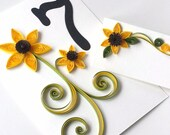 Fall Wedding Sunflower -Table Numbers Custom order available