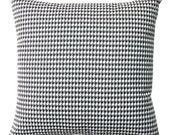 Decorative Throw Pillows, Black and White Houndstooth Pillow Cover, Zippered Pillow, Black Cushion Cover, Euro Sham, Lumbar Pillow, Accent