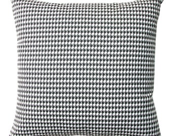 Decorative Throw Pillows- Premier Prints Black White Houndstooth Pillow Cover- All Sizes- Hidden Zipper Closure- Cushion Cover
