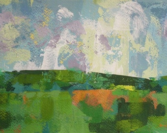 """Epiphany 56"""" Original Mix-media painting on watercolor paper10"""" x 6"""" x 1"""" abstract SALE!!"""