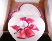 See's Candy Valentine Heart Empty Candy Box in See's Shipping Box 60's Ephemera