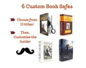 Personalized Groomsmen Gifts - Book Safe - Set of 6 - Best Man personalized gift with your own message inside FREE SHIPPING