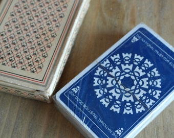 vintage sotland national trust playing card