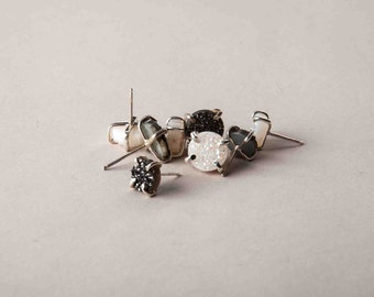large druzy stud earrings // geo collection from Haley Lebeuf