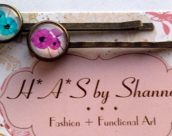 Bobby Pins, Hair Accessories, Flower Bobby Pins, Hair Pins