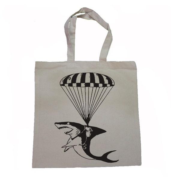 Operation SHARK Paratrooper  - Canvas Tote Bag
