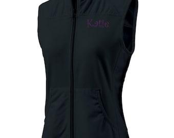 Personalized Vest, Womens Vest, Monogrammed Vest, Monogram Black Vest, Embroidered Vest, Custom Vest