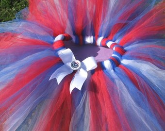 Captain America Avengers Tutu-Red, White and Blue- child, adult or running-costume or cosplay