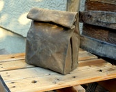 Waxed Canvas Lunch Tote Waxed Canvas Lunch Bag
