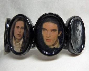 Famous Vampires Stretch Bracelet Altered Art Dracula Eric Bill Lestat Louis Nosferatu Armand