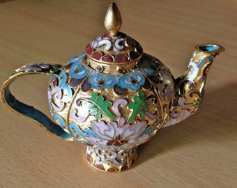Small Chinese Export Cloisonne Teapot