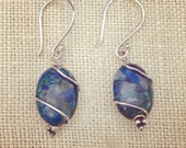 Azurite & Silver Earrings