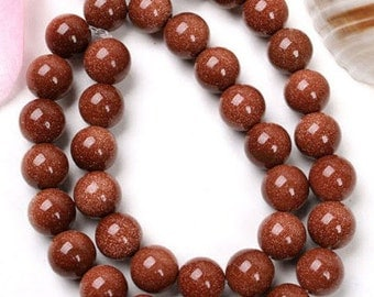 64 GOLD SAND Beads 6mm - COD6802