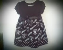 Oakland Raiders inspired boutique style dress