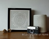 Reduced - Mandala 2 handcut papercut by Loula Belle at Home