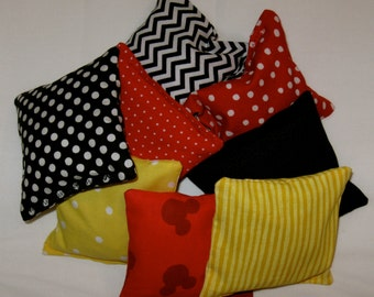 8 Bean Bags - Your choice of patterns - Mickey/Minnie-Jungle Safari-Minnie Zebra-Western-Ladybug-Star Wars-Baseball-Hello Kitty-Thing 1