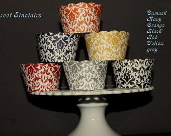 Assorted Damask Cupcake Wrapper