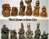 Wood Stumps Vs Stone Orcs LATEX CHESS MOULDS/Molds (14)