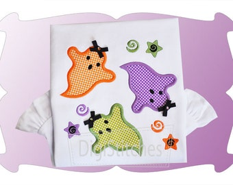 Ghost Ghost Everywhere - Appliqued and Personalized