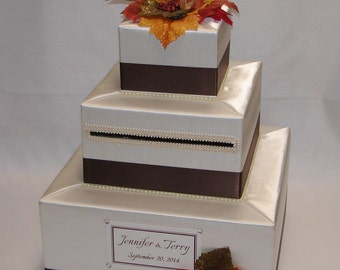 Elegant Custom made Wedding Card Box- FALL theme