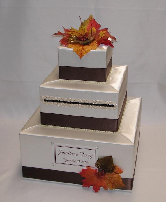 Fall Wedding Card Box Ideas: Elegant Custom Made Wedding Card Box FALL Theme