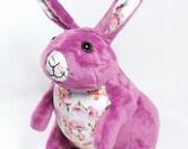 Fuchsia Bunny Rabbit plush toy