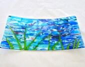 Fused Glass Serving Platter - La Mer de Monet