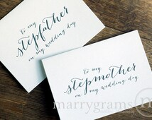 Wedding Gifts For Parents Remarriage : Wedding Card to Your Stepmother & S tepfatherStep-Parents of the ...